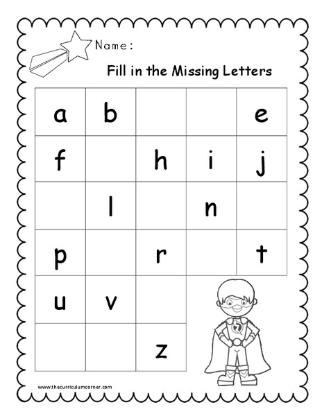 Fill in the Missing Letters Worksheet