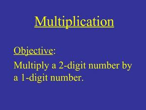 Multiplication PowerPoint Presentation