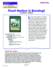 Pearl Harbor is Burning Lesson Plan