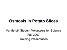 Osmosis in Potato Slices Lesson Plan