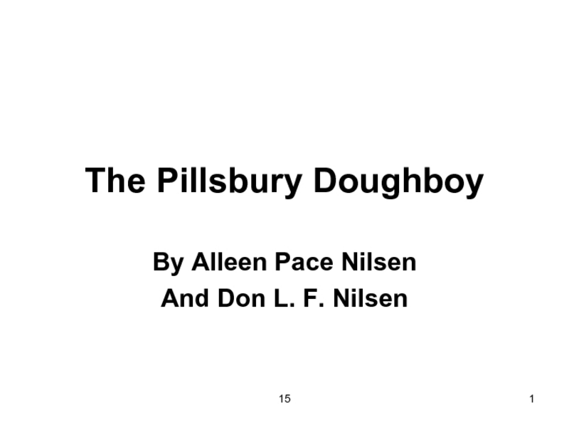The Pillsbury Doughboy Presentation