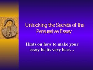 how to make persuasive presentation
