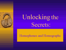 Unlocking the Secrets: Homophones and Homographs Presentation