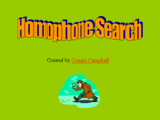 Homophone Search Presentation