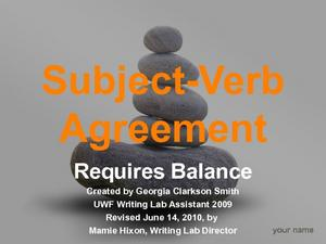 Subject-Verb Agreement Requires Balance Presentation