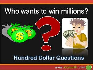 Who Wants to Win Millions - Addition Presentation