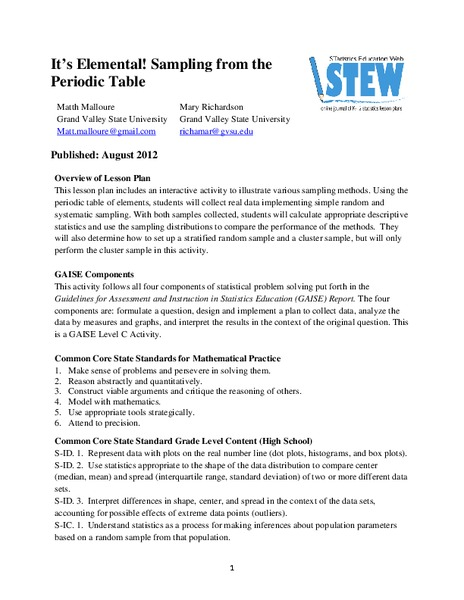 Periodic Table Lesson Plans Worksheets Lesson Planet