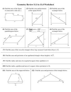 Find the Area Worksheet