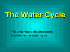 The Water Cycle: The Water Process Presentation