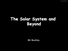 The Solar System and Beyond Presentation