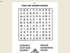 Find the Hidden Words Worksheet