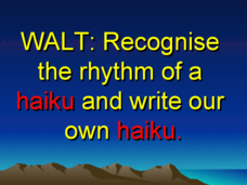 Write Your Own Haiku Presentation