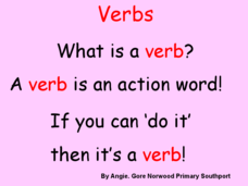 Verbs and Adverbs: Review Presentation