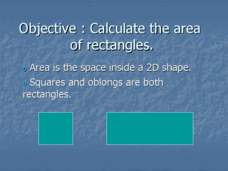 Calculate the Area of Rectangles  Presentation