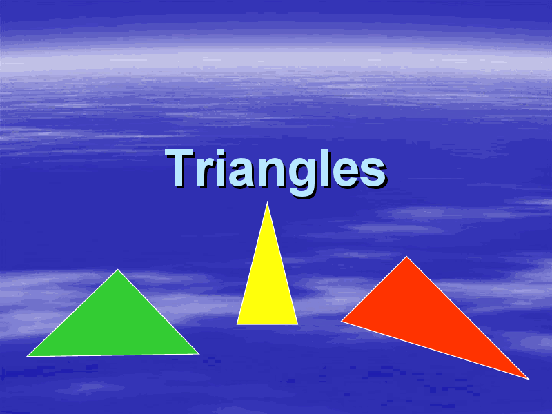 Isosceles Triangles Presentation