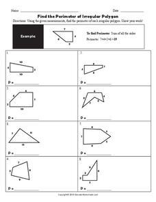 find the perimeter of irregular polygon worksheet for 3rd 6th grade lesson planet. Black Bedroom Furniture Sets. Home Design Ideas