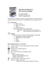 Understanding a Narrative: The True Story of Balto Lesson Plan