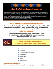 Jack-O-Latern Lesson Lesson Plan