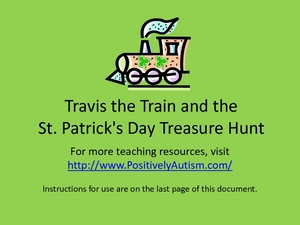 Travis the Train and the St. Patrick's Day Treasure Hunt Worksheet