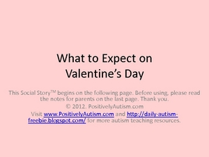 What to Expect on Valentines Day: A Social Story Worksheet