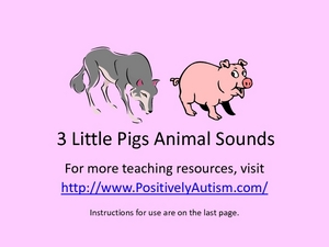 Animal Sounds: The Three Little Pigs Worksheet