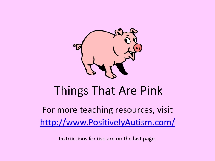 Things That are Pink Worksheet