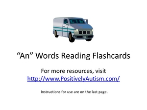 Reading Phonetically: /an/ words Worksheet