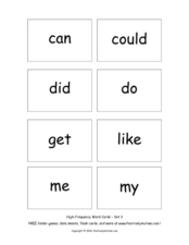 High Frequency Words: Set 3 Worksheet