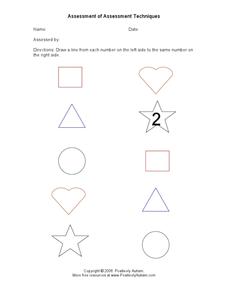 Assessment of Assessment Techniques Worksheet for