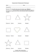 shape recognition assessment tool worksheet for kindergarten 6th grade lesson planet. Black Bedroom Furniture Sets. Home Design Ideas