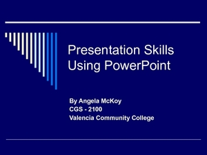 Presentation Skills Using PowerPoint Presentation