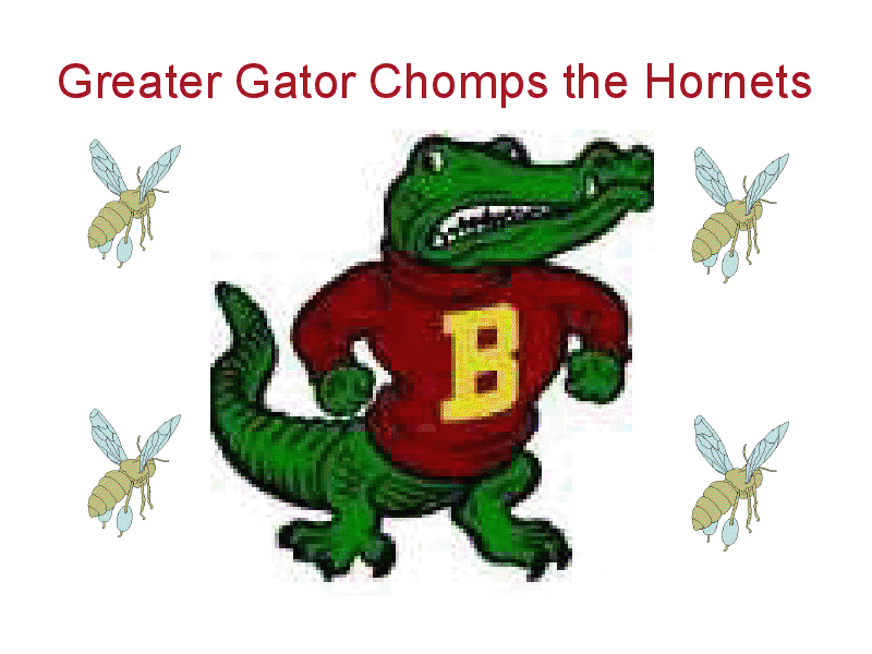 Greater Gator Chomps the Hornets Presentation