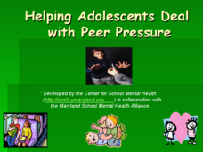 Helping Adolescents Deal with Peer Pressure Presentation