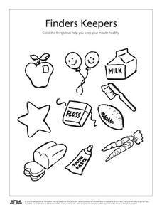 Finders Keepers Worksheet