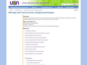 Marriage and Financial Goals, Budgeting Strategies Lesson Plan
