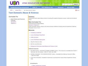 Teen Domestic Abuse and Violence Lesson Plan