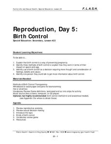 Lesson 23: Reproduction - Day 5: Birth Control Lesson Plan