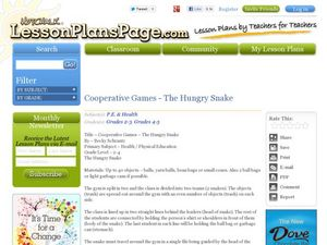 Cooperative Games – The Hungry Snake Lesson Plan