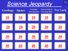 Science Jeopardy - The Earth Sciences Presentation