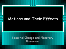 Motions and Their Effects Presentation
