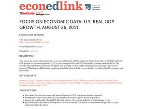 Focus on Economic Data: US Real GDP Growth, August 26, 2011 Lesson Plan