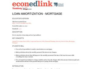 Loan Amortization - Mortgage Lesson Plan