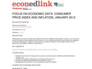 Focus on Economic Data: Consumer Price Index and Inflation, January 2012 Lesson Plan