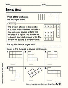Finding Area Worksheet