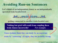 Avoiding Run-on Sentences Presentation