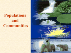 Populations and Communities Presentation