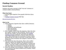 Finding Common Ground Lesson Plan