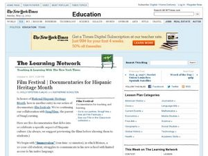 Film Festival: Documentaries for Hispanic Heritage Month Worksheet