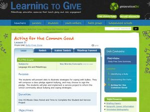 Acting for the Common Goods Lesson Plan