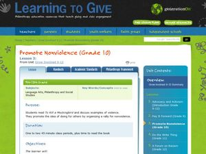 Promote Nonviolence Lesson Plan